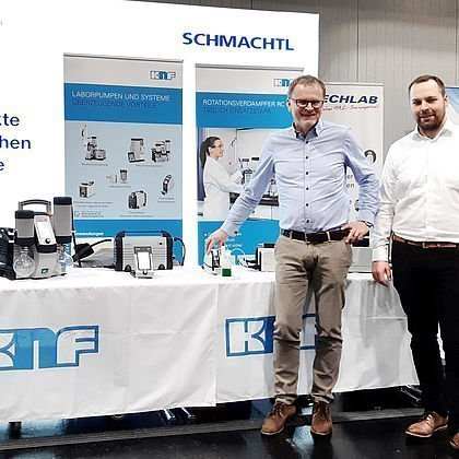 Labortechnik Lab Supply 2019 Messestand Schmachtl KNF