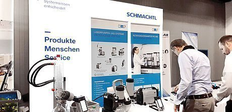Messestand Lab Supply 2019 Schmachtl KNF